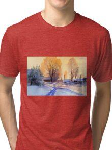 Winter light. Village. Russia Tri-blend T-Shirt