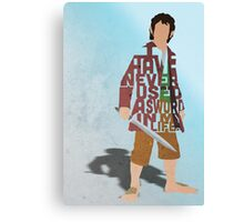Martin Freeman in The Hobbit Typography Design Canvas Print