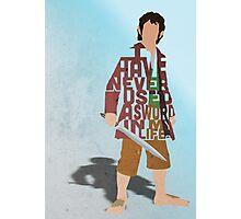 Martin Freeman in The Hobbit Typography Design Photographic Print
