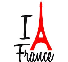 I Love Eiffel Tower France Paris by Style-O-Mat