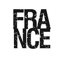 France Text Logo Photographic Print