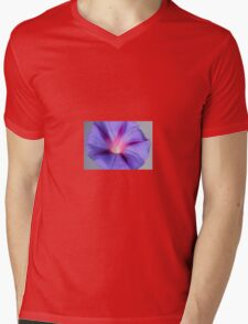 Close Up of A Morning Glory Purple and Pink Flower Mens V-Neck T-Shirt