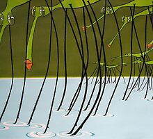 Water striders by Patricia Van Lubeck
