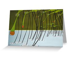 Water striders Greeting Card