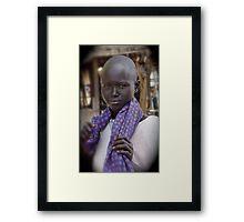 Dinka Girl in Rumbek Framed Print