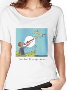 Zombie Birdwatcher Craaanneesss Women's Relaxed Fit T-Shirt