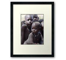 Dinka Babies in the Sudan Framed Print