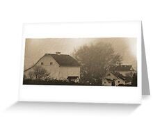 foggy farmstead 2 Greeting Card