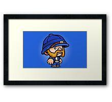 Spelunky - Blue Hunter Framed Print