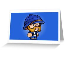 Spelunky - Blue Hunter Greeting Card