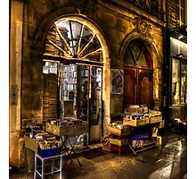 Bonsoir from the Bookstore Photographic Print