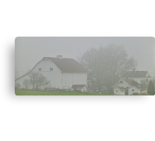foggy farmstead Canvas Print