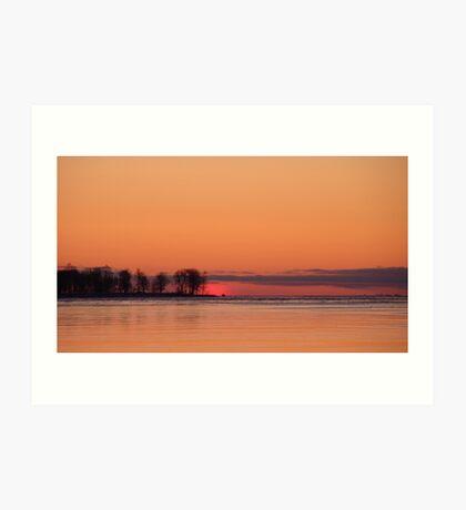 Sunrise Oneida lake Art Print