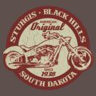 Sturgis, South Dakota (Vintage Distressed Design) by robotface