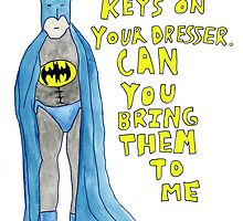 Batman Locked Out by his Girlfriend by KenTanakaLovesU