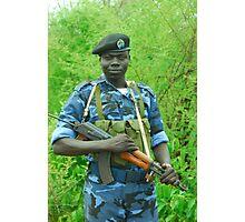 South Sudanese policeman Photographic Print