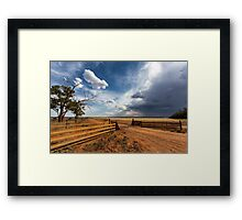The Dry Storm Framed Print