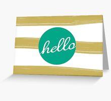 MODERN HELLO STRIPES Greeting Card
