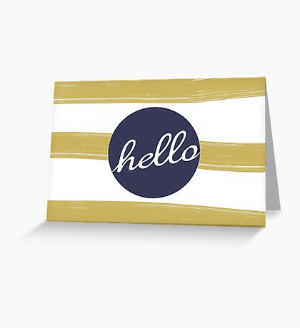 MODERN HELLO STRIPES Greeting Card