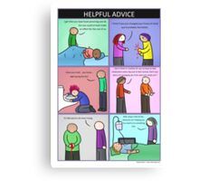 Helpful Advice Canvas Print