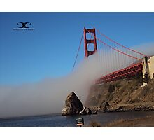 The Marine Layer flowing over the Golden Gate Bridge Photographic Print