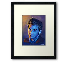 Doctor Who Tenth Doctor - Intense Framed Print