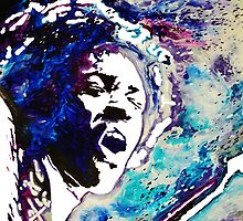 Jimi Hendrix musical rocker by MeltingMiltons