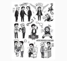 Supernatural Chibis 3 by HizaChu