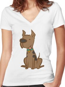 Scooby-dooby-doo.. Women's Fitted V-Neck T-Shirt
