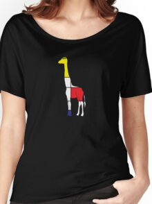Art Giraffe- Neoplasticism Women's Relaxed Fit T-Shirt