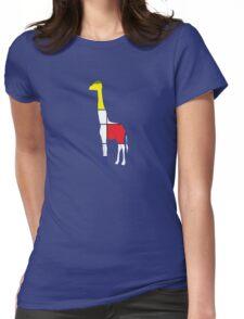 Art Giraffe- Neoplasticism Womens Fitted T-Shirt