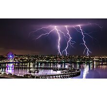 Storms over Geelong Waterfront Photographic Print