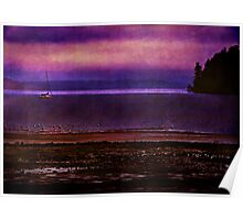 Sailing in Puget Sound Poster
