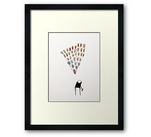 """""""Learning"""" - ink and watercolor  Framed Print"""