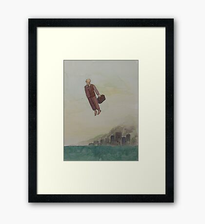 """Flight"" - ink and watercolor Framed Print"