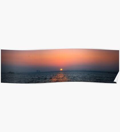 Sunset over Prince island Poster
