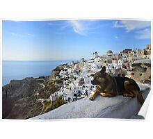 Oia Santorini Poster