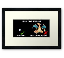 Know your pokemon Framed Print