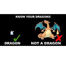 Know your pokemon Photographic Print