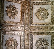 Rosettes on ceiling Garden Palace Sabbionetta Italy  198404220022 by Fred Mitchell