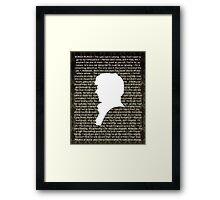 SHERLOCK Best of Quotes Framed Print
