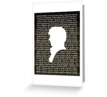 SHERLOCK Best of Quotes Greeting Card