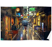 Rainy Day in Bohemian Melbourne Poster