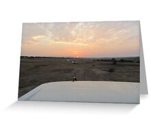 The Kenyan Sunrise Greeting Card