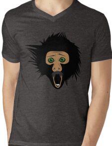 Screaming Monkey Mens V-Neck T-Shirt