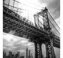 The light above Manhattan Bridge Photographic Print