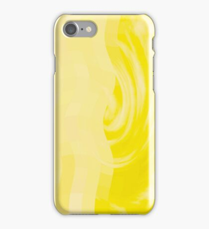 Abstract Swirl - Yellow iPhone Case/Skin