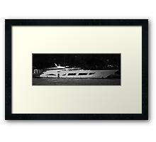 Luxury Motor Yacht Framed Print