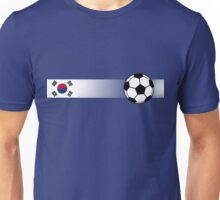Football Stripes South Korea Unisex T-Shirt
