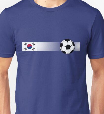 Football Stripes South Korea Unisex T-Shirt